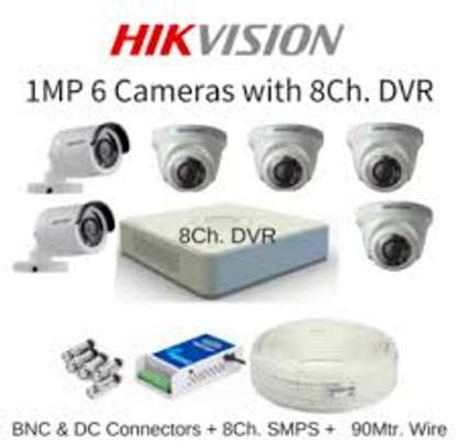 6 HD CCTV Complete Kit (Night Vision +Motion Enabled+100m) image 2
