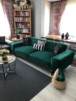 Green three seater sofas for sale in Nairobi Kenya/modern tufted green sofa sets/Chesterfield sofas for sale in Nairobi Kenya image 1