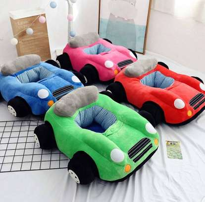 baby Car Sitting Children's Sofa,Plush Baby Sitting Learning Kid's Chair Floor seat Infant positioner Anti-Fall and Rollover Children's Furniture for Kids 3-18 Months image 2
