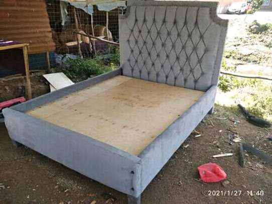 Upholstered Beautiful Quality 5by6 Bed image 1