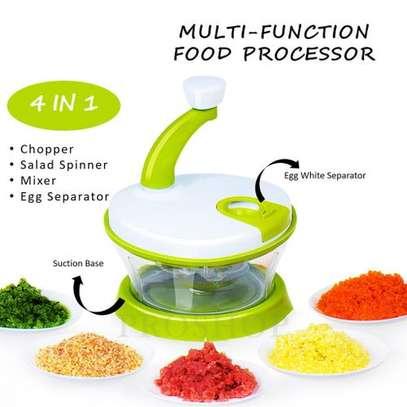 Multifunction 4-in-1 Food Processor Vegetable Rotary Sheredder image 1