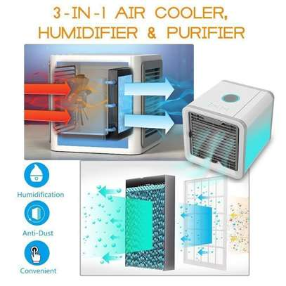 Arctic Arctic Air-1 Portable Energy Efficient Evaporation Cooling /Mini Air Conditioning USB Fan /Air-cooler Purifier with 3 Speed Modes,Built in LED Light image 2