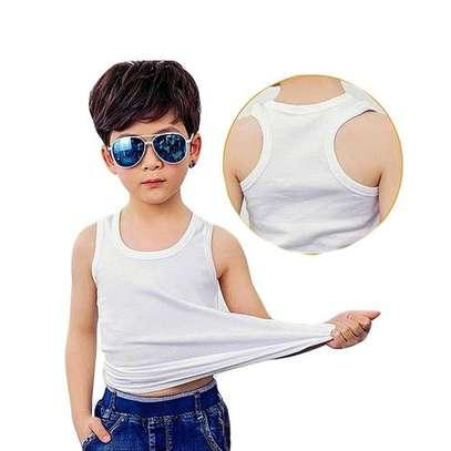 3pack white kids cotton vests image 4