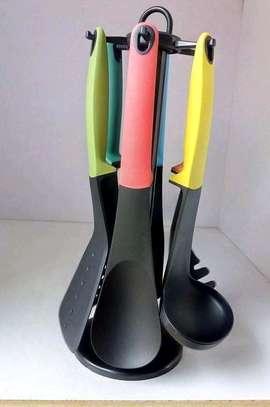 Non stick Silicone spoon set image 1