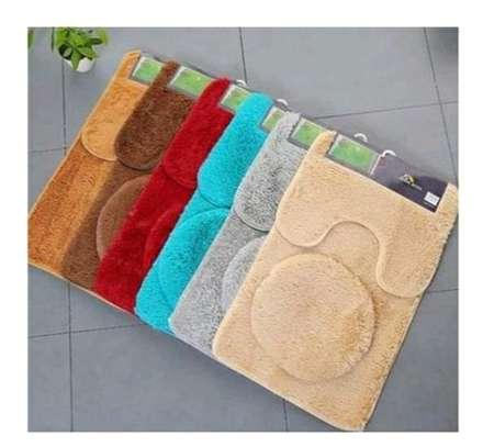 3 pc bathroom mats image 1