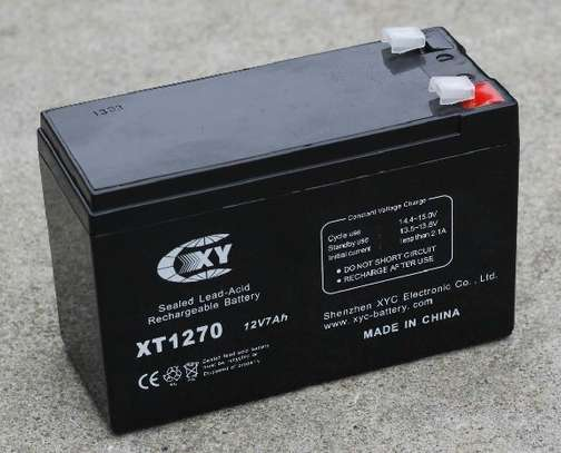 Rechargeable UPS Battery 12V - 7AH Ideal For Solar Or Access Control image 2