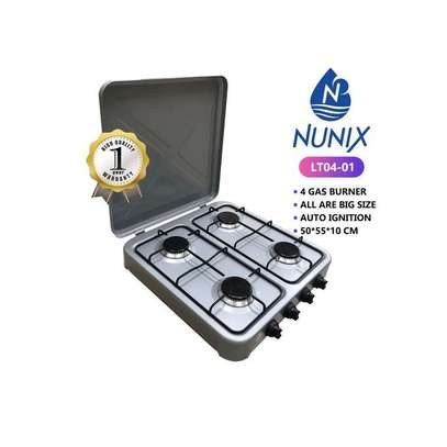 Nunix 4 Gas Burner Table Top Cooker Silver image 2