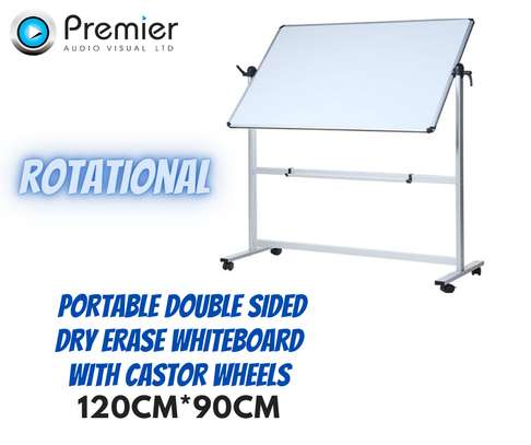 120*90cm (4*3ft) Portable double sided whiteboard image 1