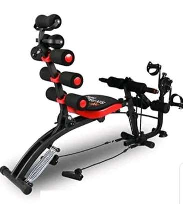 six pack exercise bench with pedals image 1