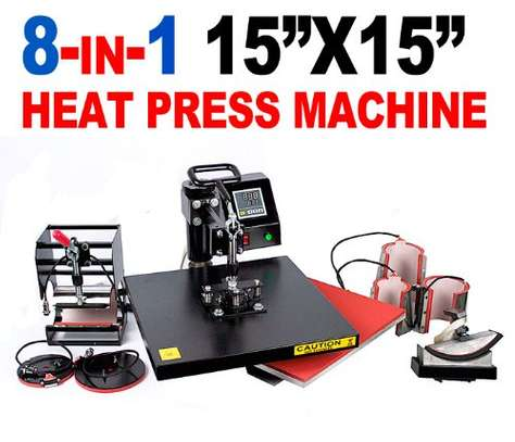plain Digital 8 in 1 combo heat press machine image 1