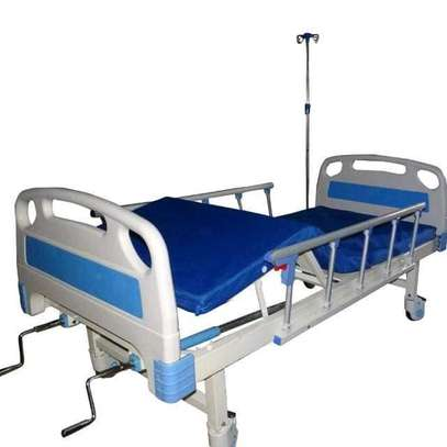 Two crank hospital and home nursing bed image 1