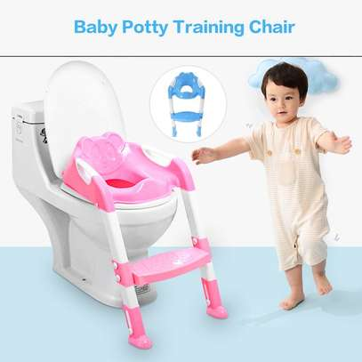Kids Potty Toilet Training Seat With Adjustable Ladder image 3