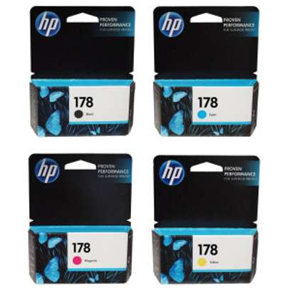 Genuine HP 178 Ink Cartridges (Black, Cyan, Yellow, Magenta, Photo black)