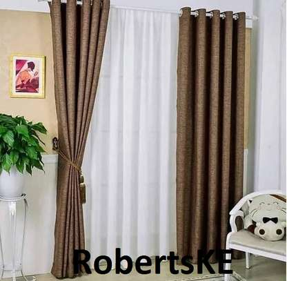 goldish linen curtain image 1