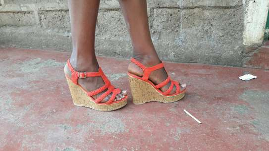 Open wedge shoes