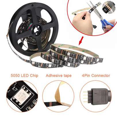 5V USB Power LED Strip Lights 5050 RGB TV Backlight Bluetooth APP Remote Music image 1