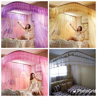 5 by 6 and 6 by 6 Two Stand Mosquito Net image 1