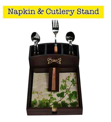 KVG wooden Napkin and cutlery stand image 1