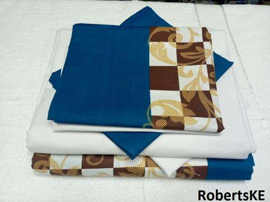 blue and white bedsheets 6by6 image 1