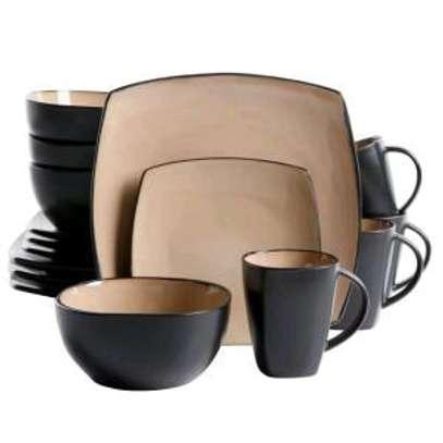 24-pieces ceramic dinner set image 4
