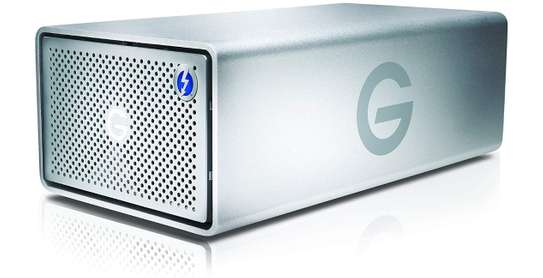G-Technology 20TB G-RAID with Thunderbolt 3, USB-C (USB 3.1 Gen 2), and HDMI, Removable Dual Drive Storage System, Silver image 1