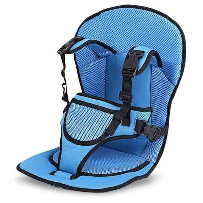 Blue Breathable Thick Car seat Cushion image 1