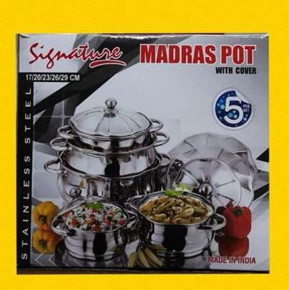 Stainless steel madras pots signature image 1