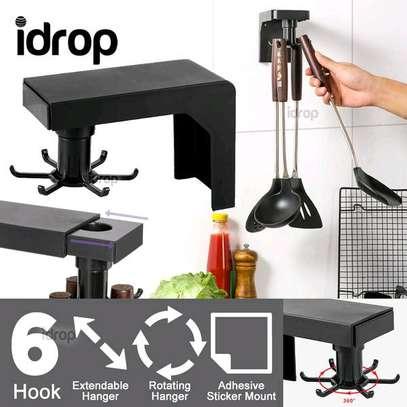 Multifunction shelf 6  rotating hooks organizer image 4