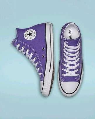 Dark purple highcut converse allstars sneakers image 1
