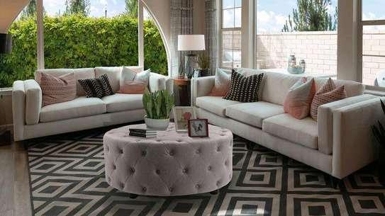 Five seater sofa set designs/tufted pouf/three seater sofa/two seater sofa/Latest sofa set designs for sale in Nairobi Kenya image 1