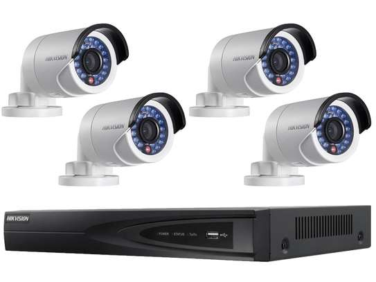 HikVision Security CCTV 4 Cameras Full  Kit image 1