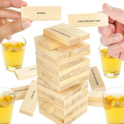 Adult Jenga Drunken Tower Drinking Games image 2