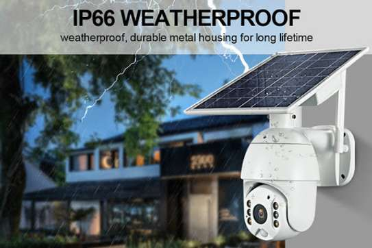 4G 2MP HD LTE PTZ Cctv Solar Powered IP Camera With Motion sensor image 2