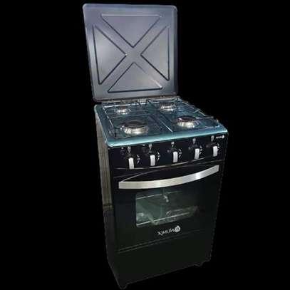 Nunix Free Standing Cooker 50*55*84cm- 4 Gas Burner + Oven B image 1