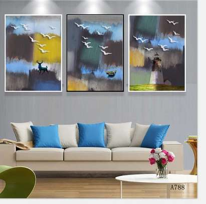 Birds view canvas abstract image 1