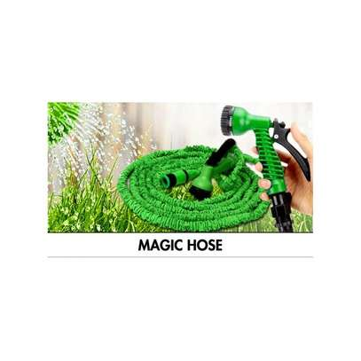 30mtrs 100FT Flexible Expandable Garden Magic Water Hose Pipe – Green image 2