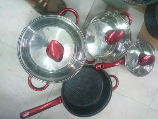 Stainless steel sufuria/induction sufuria image 2