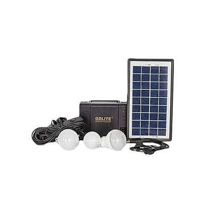 GDLITE GD 8006 - Solar lighting system -Solar Panel, LED lights and phone charging Kit image 1
