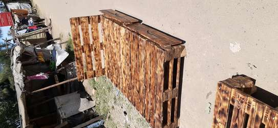 4by6 rustic pallet bed/rustic furniture/rustic beds image 2