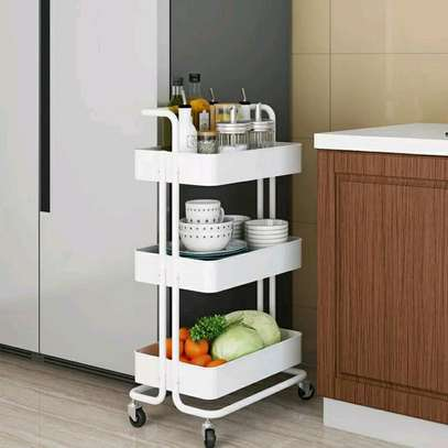 A 3-tier metallic movable Trolley image 1