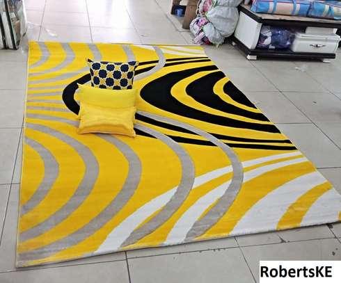 yellow printed persian carpet image 1
