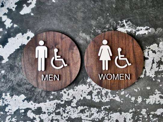 Toilet signs image 1