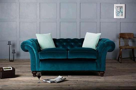 Two seater sofas/Turquoise sofas/Chesterfield sofas for sale in Nairobi Kenya image 1