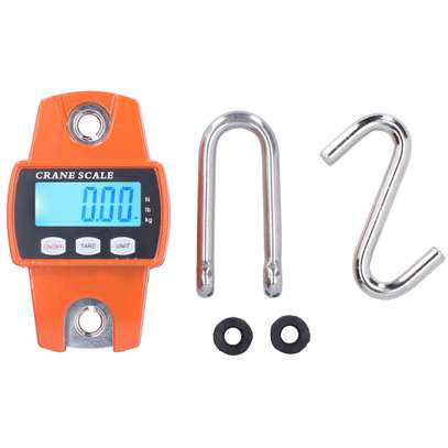 300kg Portable Crane Scale LCD Digital Hanging Hook Scale Weight Measuring Tool image 1