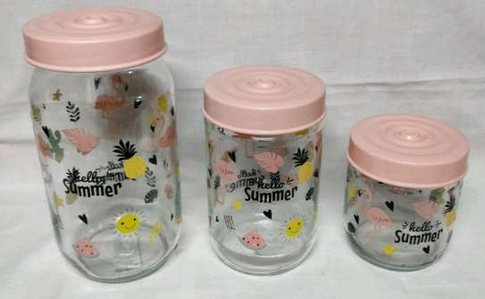 3pcs colourful spice container image 3