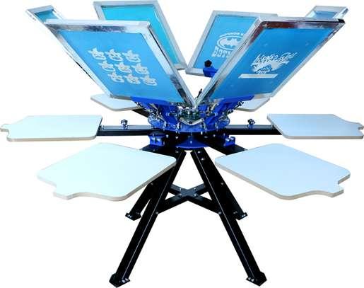 6 Color 6 Station Silk Screen Printing Machine Printer Press image 1