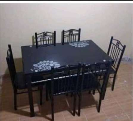 Good quality dining room table plus chairs image 1