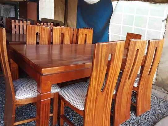 8 seater-solid-mahogany made dining set image 1