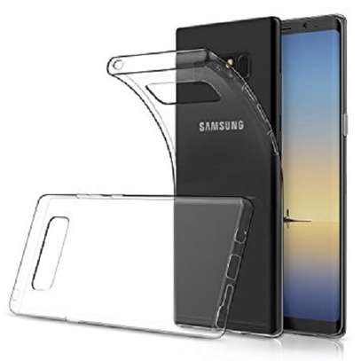 Clear TPU Soft Transparent case for Samsung Note 8 image 1