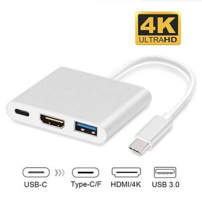USB Type C To USB Adapter,3.1 USB C(Thunderbolt 3) To 3 Port USB3.0 Hub With Type-c Female Extension Interface For MacBook / MacBook Pro / Chromebook Pixel (usb C To Hdmi) WWD image 1